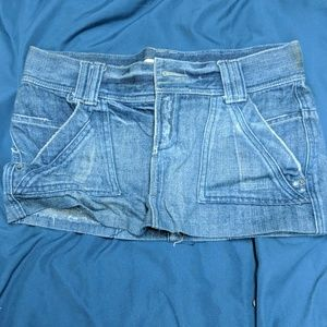 mossimo supply company jeans skirt